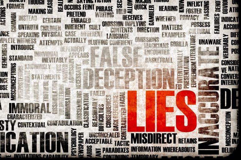 Lügen Sie oder reden Sie nur ungünstig